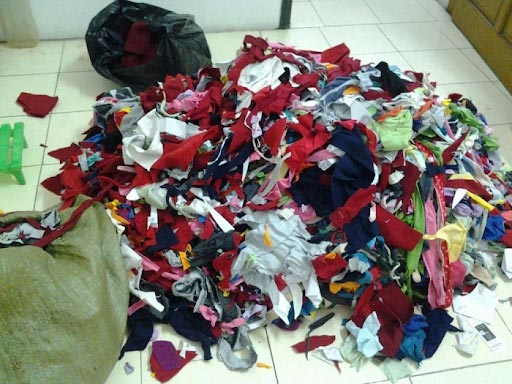 Vải vụn là một trong những loại phế liệu có thể tái chế